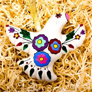bird christmas decoration multi coloured