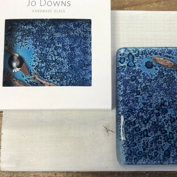 Jo Downs Handmade Glass Square Coasters