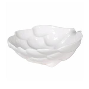 White Ceramic Artichoke Bowl