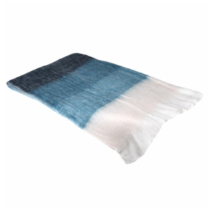 blue ombre mermaid throw