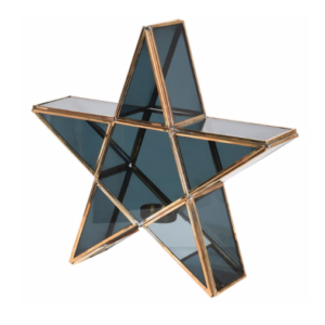 black brass star candle holder