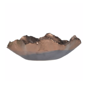 Copper waved bowl