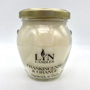 Frankincense & Orange scented lyn candle