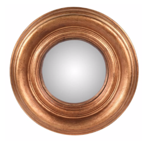 Small Round Gold convex mirror