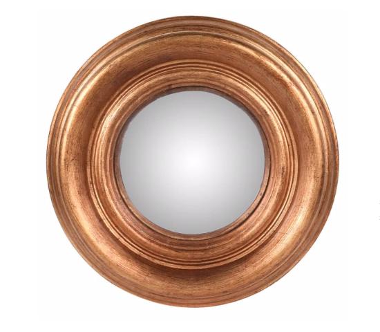 Small Round Gold convex mirror