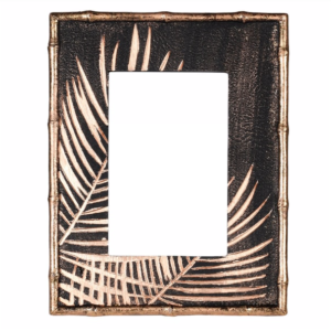 Black & Gold palm effect photoframe
