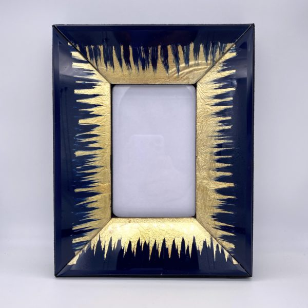 Navy blue and Gold Photo frame