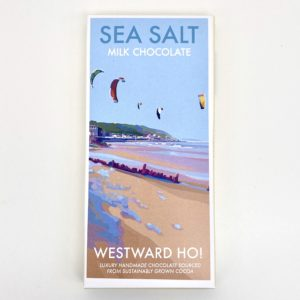 Becky Bettesworth Westward Ho Print Sea Salt Chocolate