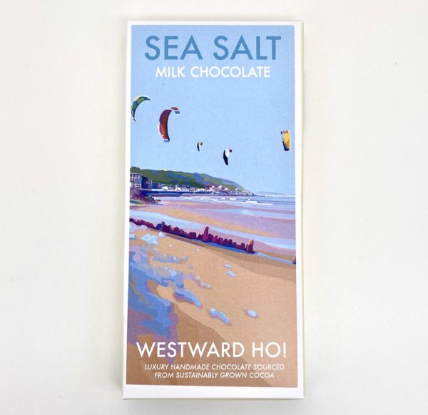 Becky Bettesworth Westward Ho Print Sea Salt Chocolate