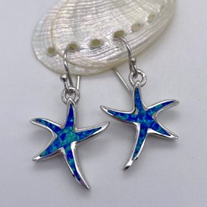Crushed Oapl starfish Drop Earrings