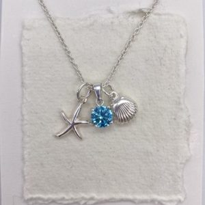 Drop in the ocean turquoise blue necklace
