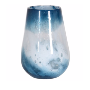 indigo blue and white vase