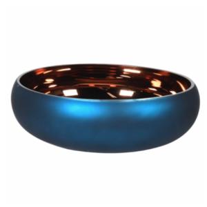 matt blue and bronze bowl