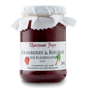 Waterhouse Fayre Strawberry, Rhubarb & Elderflower Jam (340g)
