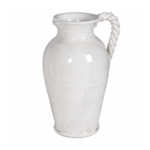 white twisted jug