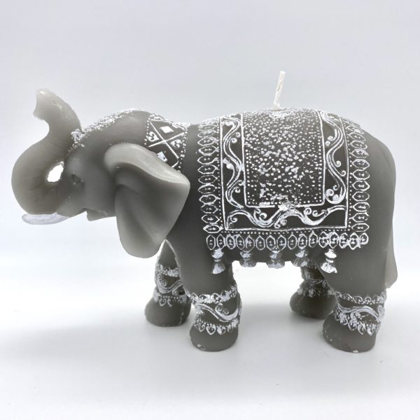 Small Carved elephant Candle