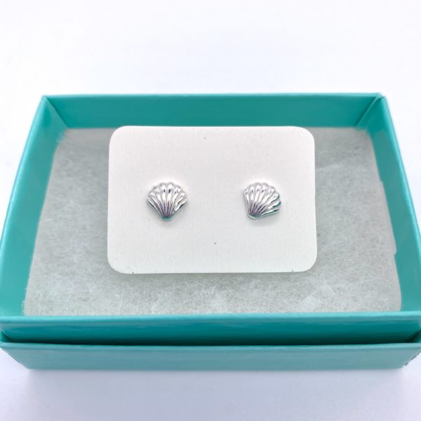 Silver Shell Studs