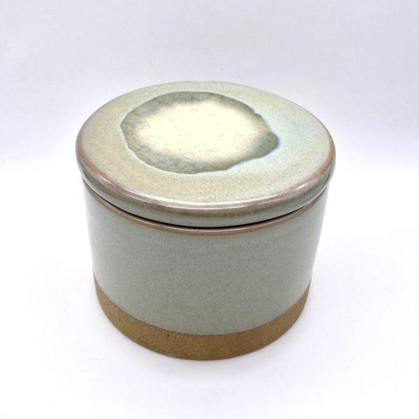 Light Grey Green Ceramic Jar