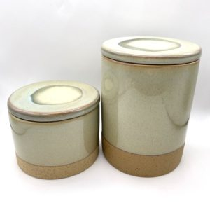 Light Grey Green Ceramic Jar