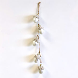 White & Gold Acorn String
