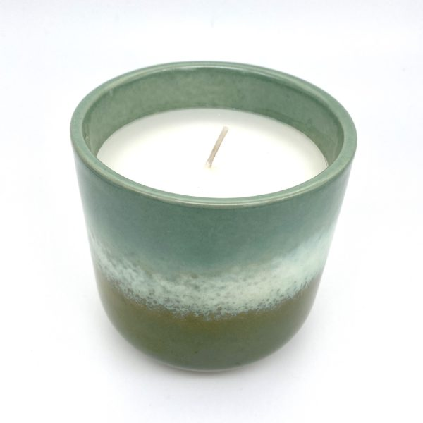 Green Ombre Candle Pot