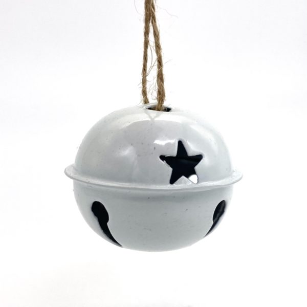 White Bell Baubles