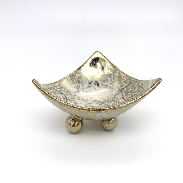 Mini Crackle Gold Dish