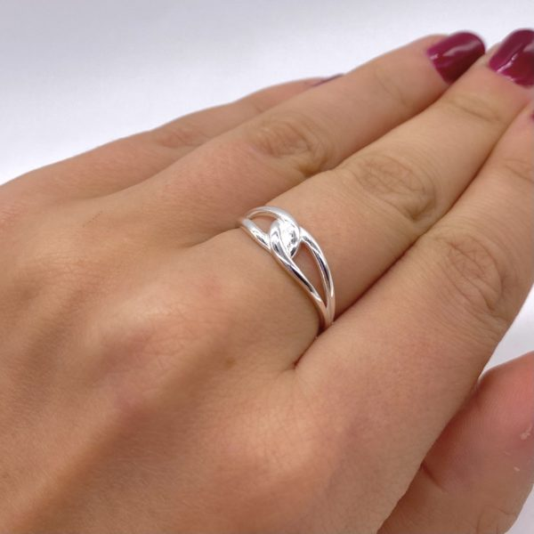 Silver Chunky Knot Ring