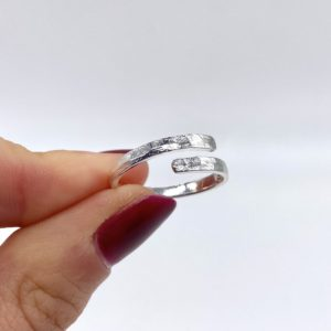 Hammered Wrap Around Silver Ring
