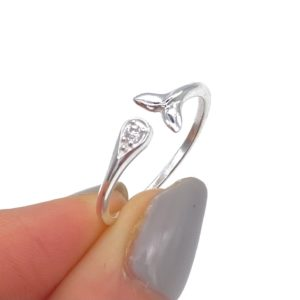 Silver Fish Tail Ring
