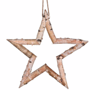 Birch Wood Hanging Star