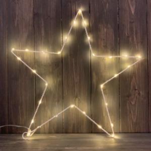 Minimilist White Hanging star