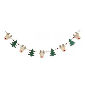 Reindeer & Christmas Tree Bunting