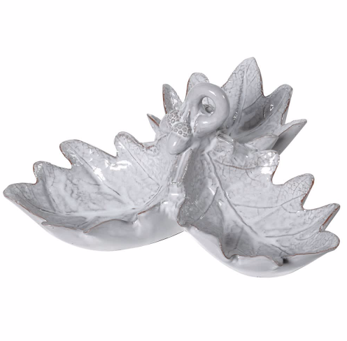 Grey Oak Leaf Dish
