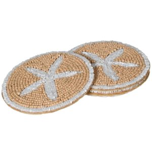 Sandy Starfish Beaded Coaster