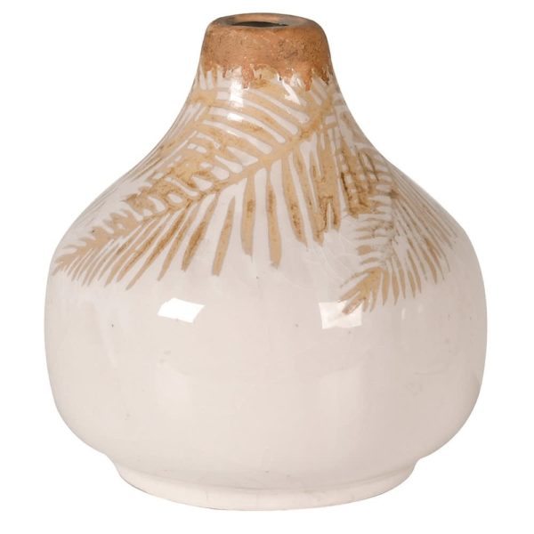 Mini Beige Palm Vase