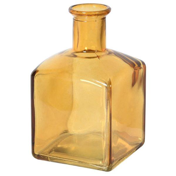 Mini Amber Glass Vase