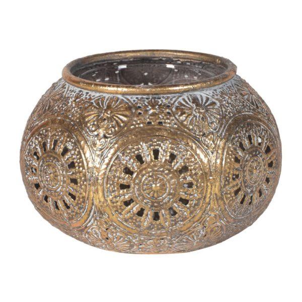 Squat Gold Candleholder
