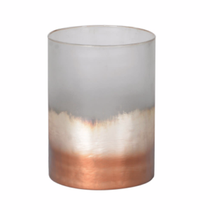 Copper and gold ombre candle holder