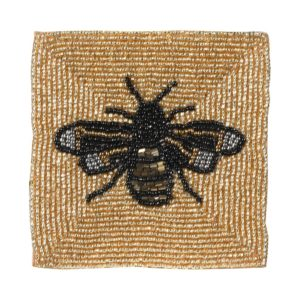 Beaded Bee Coaster