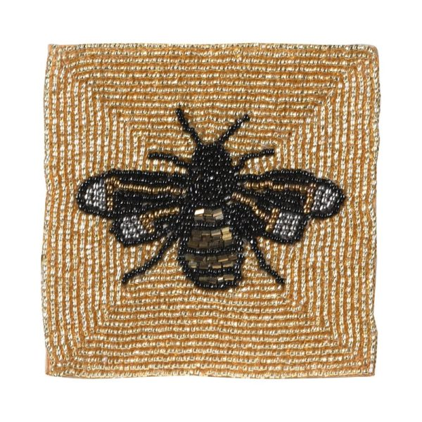 Beaded Bee Coaster