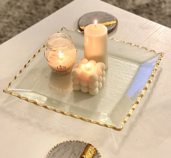Gold Rimmed Glass Plate