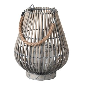 grey willow wood lantern