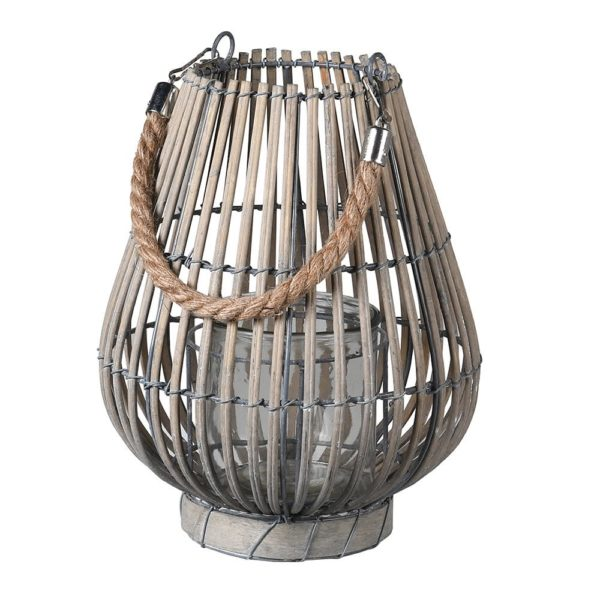 grey willow wood lantern