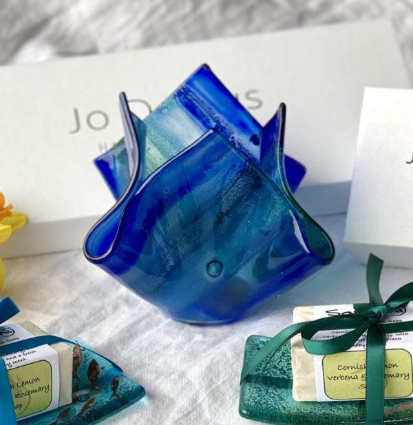 Jo Downs Medium Sunset Blue Vase