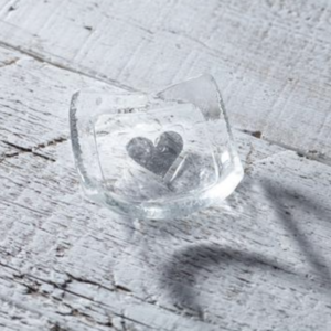Jo Downs Clear Heart Earring Dish
