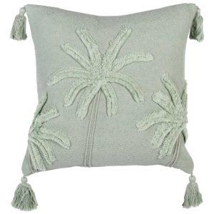 Mint Green Palm Tree Cushions