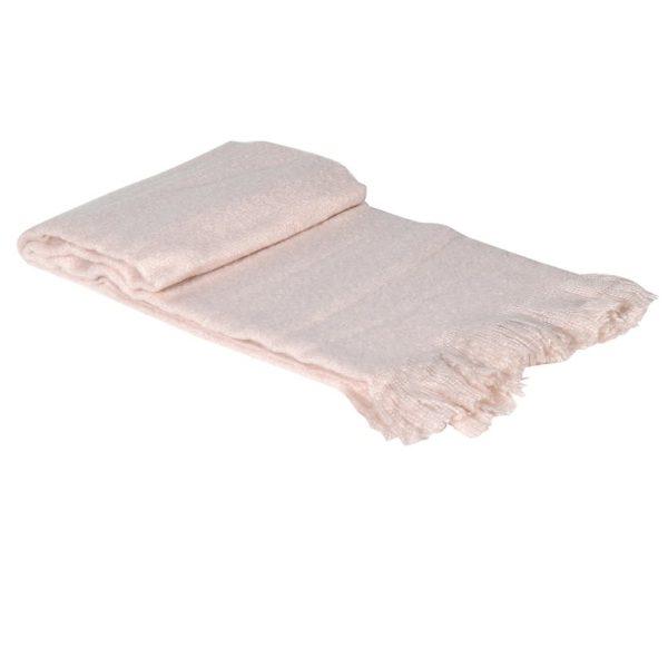 Pastel Pink Soft Throw