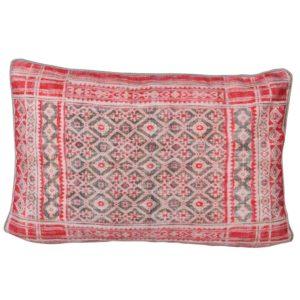 Red Block Print Cushion