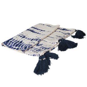 Blue Tie Dye Throw